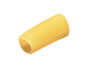 Recipes Zafarelli Rigatoni is a chunky, hollow pasta shape with a ...